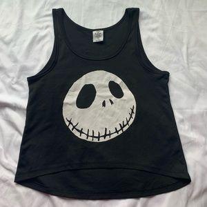 Disney Tops - 💕3/$25💕Jack Skeleton Disney Black Tank Top Large